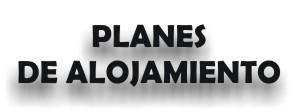 Planes de alojamiento, dominios, correo, web.